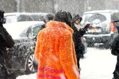 Street Style NYFW  snow storm