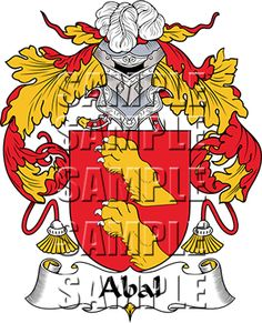 Abal Family Crest apparel, Abal Coat of Arms gifts