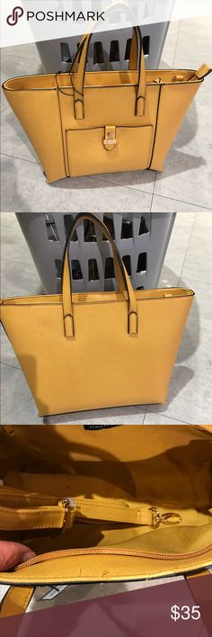 "Classic yellow tote bag Bag comes with straps so it can be carried as a crossbody bag as well.🌸🌸Boutique prices are firm unless bundle. Bundle 3 or more items for 10% off.🌸NOT🌟Miacheal Kors, tagging the brand for exposure purpose only! Top width: 13"", bottom width: 10"", height: 9"". Michael Kors Bags Totes"
