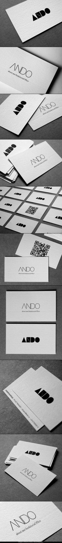 ANDO | brand identity http://www.behance.net/gallery/ANDO-Brand-Identity/3487721