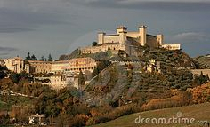 Spoleto is an ancient city in the Italian province of Perugia in east central Umbria on a foothill of the Apennines.