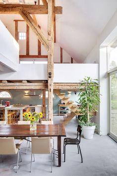 Woonboederij / BYTR architecten Utrecht-Rotterdam, interior, wood, modern, old en new, vide, glass