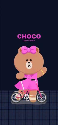 Cute Patterns Wallpaper, Pink Wallpaper, Cony Brown, Brown Line, Friends Wallpaper, Kawaii, Line Friends, Cute Bears, Little Sisters