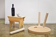Gonçalo Campos: Rolhaî  A table inspired by the ritual of uncorking a wine bottle by Gonçalo Campos
