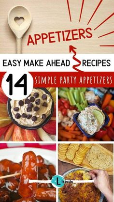 All the best easy make ahead holiday appetizers for game day or any celebration. Find skewers, finger food , warm or cold appetizers for the best crowd pleasing recipes for kids and adults both. Read simple steps for quick prep and make head options and tools like the instant pot. See all the recipes at #listotic #makeheadappetizers #appetizerrecipes #SuperBowlAppetizers