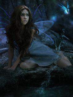 Artwork using my stock photography (Cathleen Tarawhiti) -  Fairy Fantasy by Freschnitzel