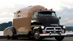 Here's another nicely restored vintage truck that's been converted into a one of a kind camper.