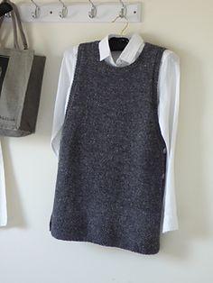 Ravelry: Linnea Tunic pattern by Stella Ackroyd Free Knitting Patterns For Women, Chunky Knitting Patterns, Knitting Stiches, Crochet Cowl Free Pattern, Knit Vest Pattern, Streetwear Mode, Streetwear Fashion, Apron Dress, Medieval Clothing