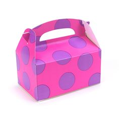 Pink with Purple Big Dots Empty Favor Boxes (4 count) USD 2.99