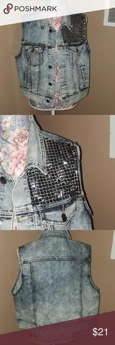 Ashley Stewart Denim Vest NTW 14/16 Ashley Stewart  67% cotton 31% polyester 2% spandex New with tags  14/16 Ashley Stewart Jackets & Coats Vests