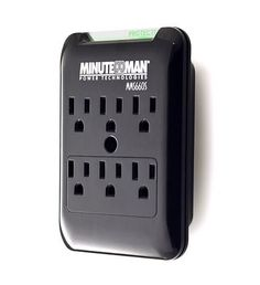 6 Outlet Wall Tap Surge Suppressor- 540J
