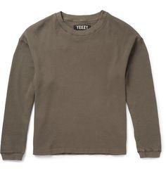 Yeezy x Adidas OriginalsWaffle-Knit Cotton T-Shirt