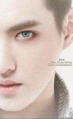Who the crap gave Kris blue eyes?!