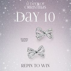 It's day 10 of our #12DaysOfChristmas and you could win these TJH Collection bow earrings worth £32.95: https://www.thejewelhut.co.uk/silver-clear-cubic-zirconia-bow-stud-earrings-e4692c  For your chance to enter, simply follow The Jewel Hut on Pinterest and #RepinToWin. Ends midnight tonight! T&C's Apply. #Giveaway #Competition All winners will be announce 14/12/15