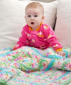 Cuddly Baby Blanket Crochet Pattern | Red Heart
