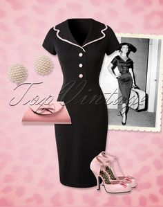 This 50s Nina Pencil Dress by Hulahup is perfect for any occasion and... is exclusively available at TopVintage!