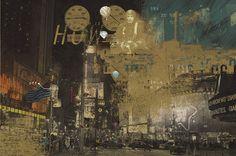 NY night elaborazione grafica