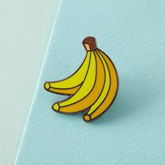 Bananas Enamel Pin with clutch back // lapel pins by Punkypins