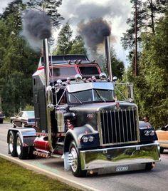 A big Kenworth W9, rollin' a little coal!