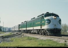 Southern Railway, #6914, EMD E8 Crescent Limited Train, under restoration by Tennessee Valley Railroad Museum