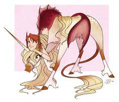wut by probablyfakeblonde on DeviantArt Mythical Creatures Art, Mythological Creatures, Fantasy Creatures, Mermaid Drawings, Mermaid Art, Animal Drawings, Cute Drawings, Arte Aries, Unicorn Art