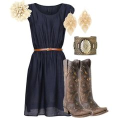 19 Ideas for boots cowgirl outfit life Country Girl Outfits, Country Dresses, Country Fashion, Country Girls, Country Outfit Summer, Dress Outfits, Fall Outfits, Cute Outfits, Fashion Outfits