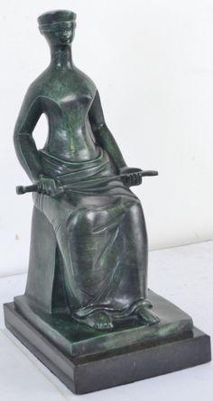 "Alfredo CESCHIATTI ( Belo Horizonte 1918 - Rio de Janeiro 1989 ) "" A justiça "" - escultura e"