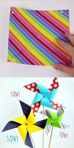 Pinwheel Template & Instructions Simple template and instructions to make a giant pinwheel. Simple template and instructions to make a giant pinwheel. Spring Crafts For Kids, Summer Crafts, Crafts For Teens, Diy Crafts To Sell, Arts And Crafts, Paper Crafts, Foam Crafts, Crafts For Preschoolers, Simple Crafts For Kids