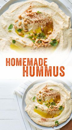 Homemade Hummus (WAY Tastier Than Store Bought!) – A Couple Cooks This easy homemade hummus recipe is delicious with warm pita bread or fresh vegetables. Here's our best hummus recipe and how to make homemade hummus! Raw Food Recipes, Vegetarian Recipes, Cooking Recipes, Healthy Recipes, Cooking Rice, Cooking Chef, Cooking Videos, Dip Recipes, Healthy Cooking