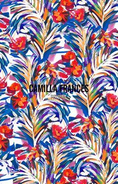 Camilla Frances Prints : Photo Graphic Patterns, Graphic Design Art, Print Patterns, Floral Patterns, Pattern Bank, Motif Floral, Cellphone Wallpaper, Floral Illustrations, Exotic Flowers