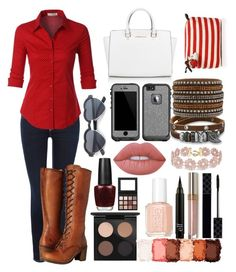 """""""Oc scenario RTD"""" by genrac525 ❤ liked on Polyvore featuring True Religion, Frye, LE3NO, MAC Cosmetics, Michael Kors, LifeProof, BillyTheTree, Lime Crime, NYX and Essie"""