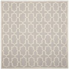 Handwoven Contemporary Moroccan Dhurrie Gray Wool Rug (6' Square)
