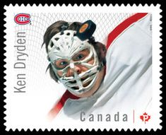Ken Dryden - Montreal Canadiens Canada Postage Stamp | Great Canadian NHL Hockey Goalies Montreal Canadiens, Ken Dryden, Hockey Hall Of Fame, Canadian Culture, Hockey Goalie, Nhl Players, Canada, Sports, Sport