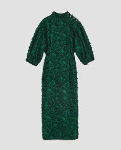 Image 11 of MIDI DRESS WITH FRINGE from Zara