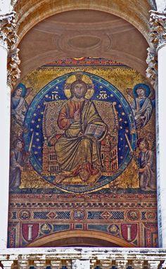 Filipo Rusuti, mosaico de Santa María la Mayor (h.1297). -Pintura Italiana SS.XIII-XIV. El Duecento en Roma.