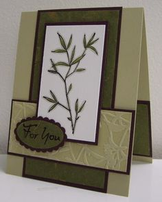 Stamping with Loll: Delphiniums and Bamboo