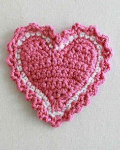 Best Free Crochet » Free Crochet Pattern Heart Coaster #53