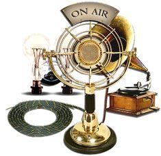Steampunk radio and music station items. Яндекс.Фотки