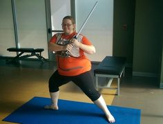 """Leaping lightsabers! Sweat to the Force with a Jedi workout Ready for Help Me Obi-wan Kenobi You're My Only Hope Squats? Downsize Fitness develops a Jedi workout to get """"Star Wars"""" fans fit for May the 4th."""