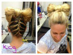 Braid bow. So fun!!
