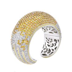 Matthew Campbell Laurenza  Manhattan Collection Large Pave cuff