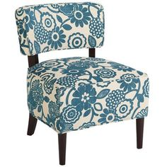 Cadman Chair - Teal Floral - Pier1