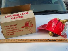 TOY TEXACO FIREMEN HAT / ORIGINAL BOX