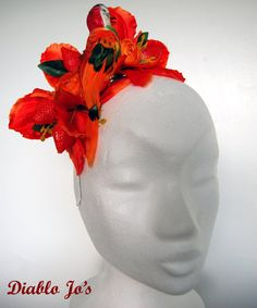 Tropical Parrot and Strawberry flower crown by DiabloJos on Etsy, £20.00