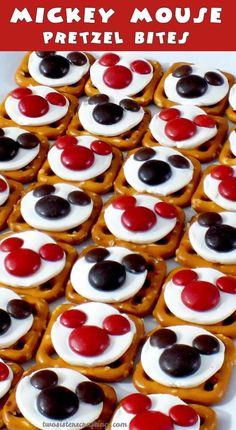 Mickey Mouse Party Pretzel Bites