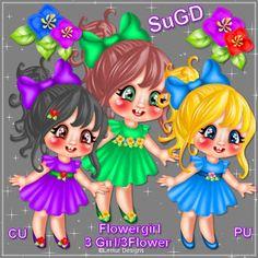 Dagny`s Scrap und Grafik Design: CU/PU Flower Girl