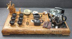 Oriental Chinese tea set Authentic hua limu/palisander/rosewood tea tray teaset