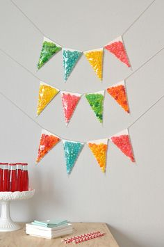2-in-1!!! Birthday banner and jelly bean giveaway!   #PinzzaParty   Jelly Bean Garland