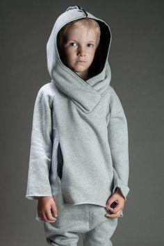 Bluza bokserska dziecięca szara z czernią