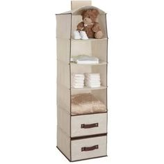 Delta Children 6-Shelf Hanging Storage Unit with 2 Drawers, Choose Your Color